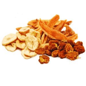 Dried fruit roots and derivates